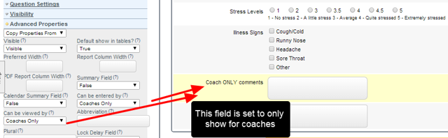 Coach Only field example