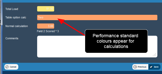 Performance Standards were not appearing for calculations or option calculations. These now appear.
