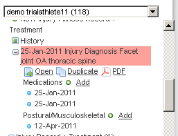 If your sidebar is set up for entering in medical data with linked records you can enter this in directly in using the sidebar without having to open the injury/illness record