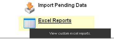"Click on ""Excel Reports"""