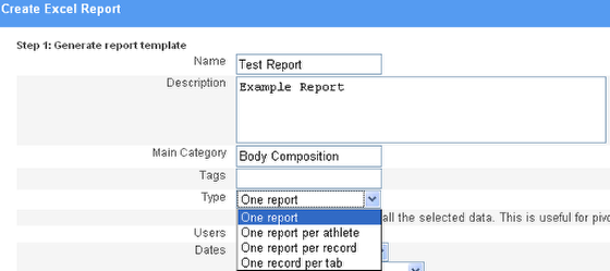 Complete the report details
