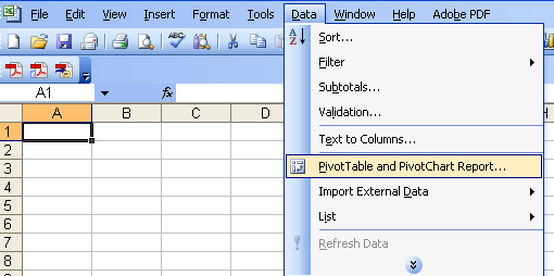 Build your pivot tables