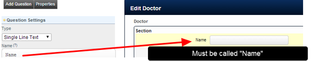 The Name of the Related Entity field in the Related Entity structure MUST be called Name. If it called Doctor or Room etc, it will NOT work correctly in the Scheduling Modules