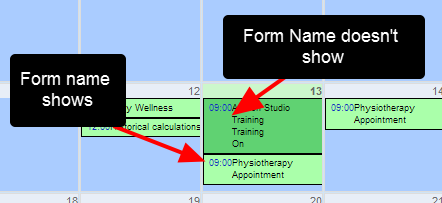 Show Event Name in Calendar Summary will be set to Yes for most Appointment Forms