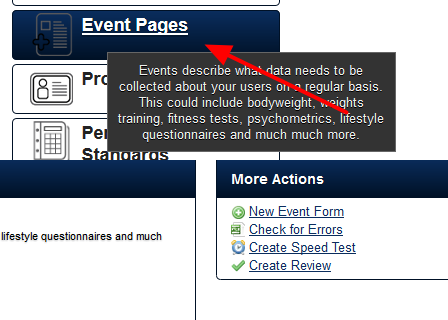 To create a new Appointment Form, click on Event Pages and create a new Event Form