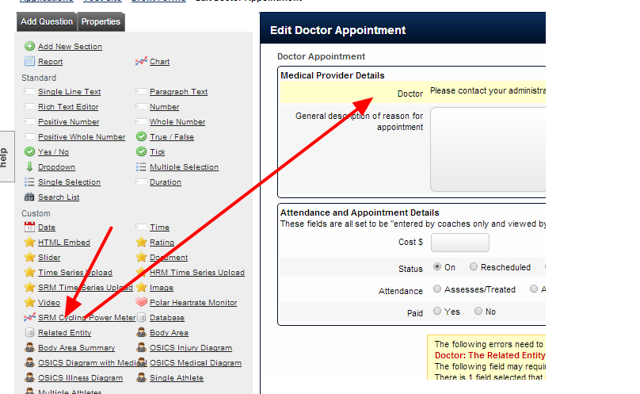 Add in the Related Entity Type that you want the appointment to be able to be booked for