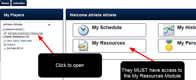 For each User/s whom the Resource is assigned to, as long as they have access to the correct Category (e.g. Athlete) AND the My Resources Module, the Resource that is assigned to them will appear in their Sidebar
