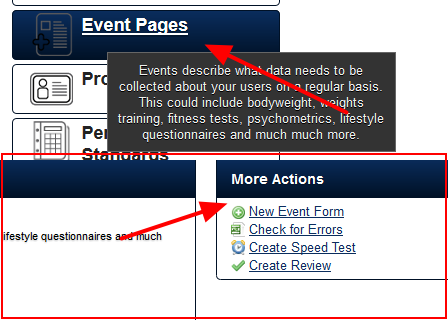 To create a new Scheduling Form, click on Event Pages and create a new Event Form