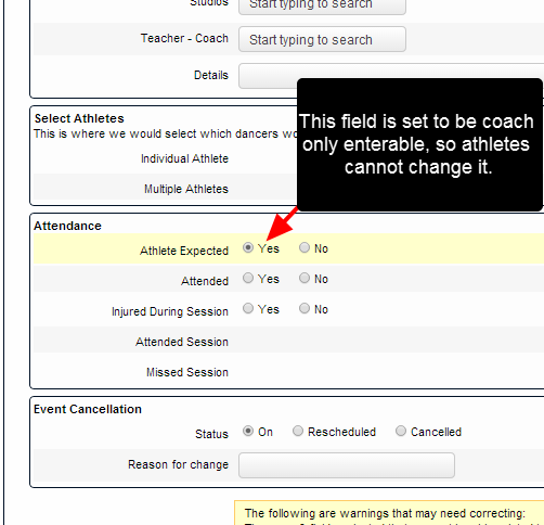 Add in the appropriate fields into the Event Form, and set up the entered by and viewed access to these fields as required