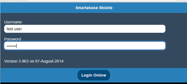 Login to the Mobile application