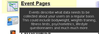 "To check all of your event forms for any errors go to ""Event Pages"""