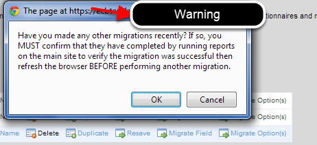 If you had previously run a migration check that it is complete before starting this migration