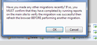 Check the Migration: refresh,check the field name in the Form and check the data on the application