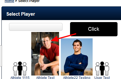 Select the Player to be updated (either via the Profile button on the main page, or on the profile link on the sidebar-not shown here)