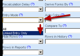 "Set up the Entry Mode setting to ""Linked Entry Only"" and save the form"