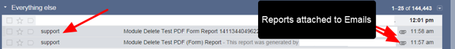 The report will appear in their Email.