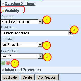 By default all fields will appear in the event form to be entered on the application. You can specify that some questions are hidden unless specific visibility settings are met.