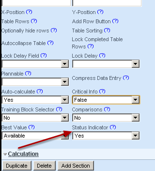 """Now, set up the field's Advanced Properties as """"Status Indicator""""  Yes"""