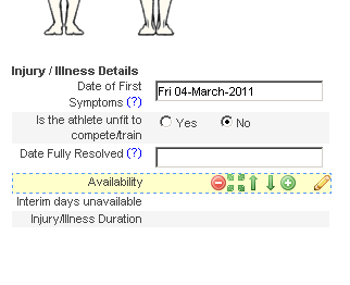 Injury Status for Two Event Forms. If you do have a separate Injury and Illness form and you need both of them to have a status indicator, you need to ensure that the fields and options that calculate injury/illness status are identical in BOTH forms.
