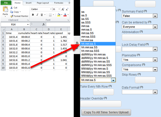 Make sure you choose the correct format based on the original spreadsheet and the actual output of the .csv file