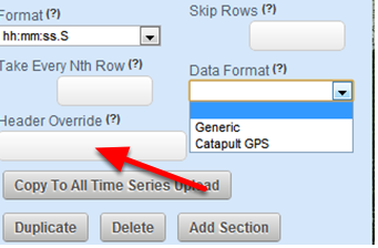 Override the Headers on the csv spreadsheet, or add them in using the Header Override