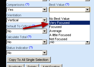 Set the Best Value, any Default Values