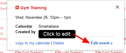 Any event can be selected, and additional details about the event may be provided; additional details are dependent on how these events were set up in Smartabase.