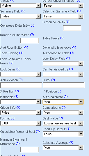 Set up any visibility and Advanced Reports settings