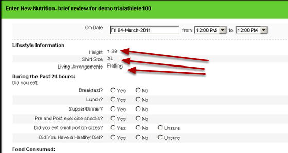 Then, enter a new entry into the Event Form that the linked fields are inserted in (e.g. the Nutrition -brief review form)