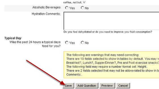 Save the changes you make to your form
