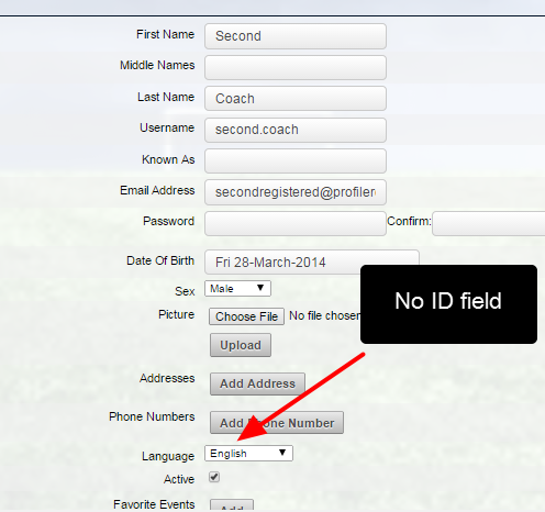 No ID appears in the account details