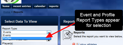 Reports now include Profile data as a Report Type
