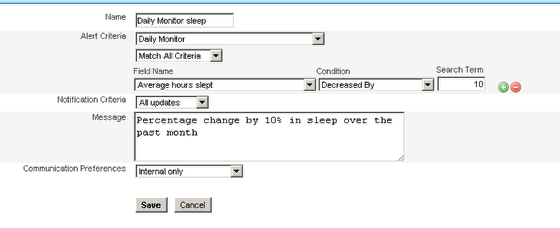 Create a new Performance Alert based on the new fields in your form e.g. decrease in average hours slept