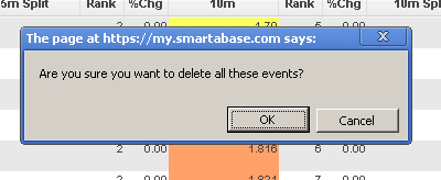 "1.1 Once you select ""Delete All"" all of the event data (e.g. each complete event) showing in your report will be deleted"