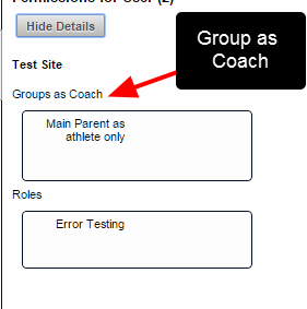 "The ""Groups"" denotes a Group that the user is in (image in the step above), and ""Groups as a Coach"" denotes the entire Groups that the user has access to (as shown in the image here)"