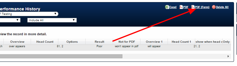 If a PDF is generated as a PDF (Form) THEN the PDF hidden fields WILL automatically be adhered to