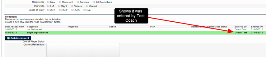 "The ""Entered By"" field automatically tracks who saved an event form on the system"