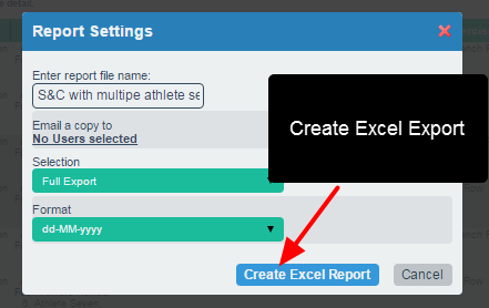 Choose the export format to include all fields and then select the date format