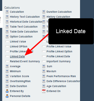 A Linked Date Field has been added in the Form Builder (in the Calculations section) to that dates can be linked between forms