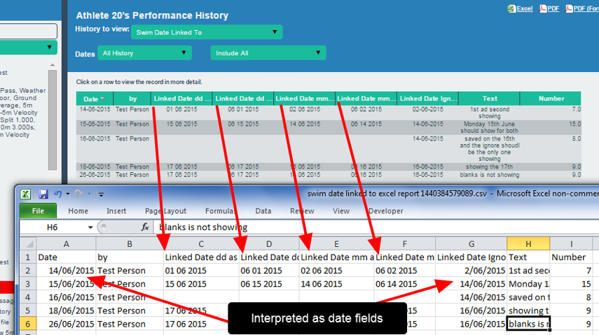 Note that the version and country of origin of excel WILL influence how the date is interpreted in the csv by excel.
