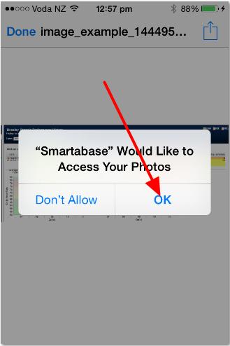 Allow access to photos