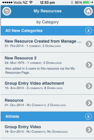 For Show Resources, all of the available Resource appear sorted by category. Click to go to that resource and then follow the download and open instructions below