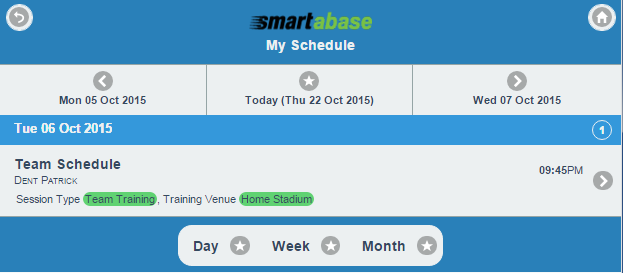Instead of going directly to the schedule page , a date selector appears (as shown in the image in the step below)