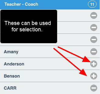 If this is selected, the available options for this Related Entity (e.g. the Teacher- Coach) appear and be used for booking instead.