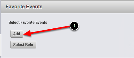 Firstly select the Events by clicking the Add button