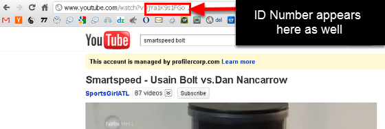 You can also copy the ID link from the internet url shown in your internet browser
