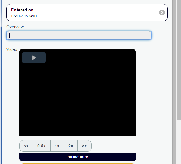 This form has a video in it which links to a video stored externally from Smartabase.