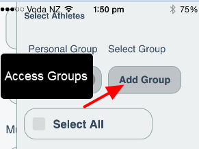 Access the combined groups structure is available