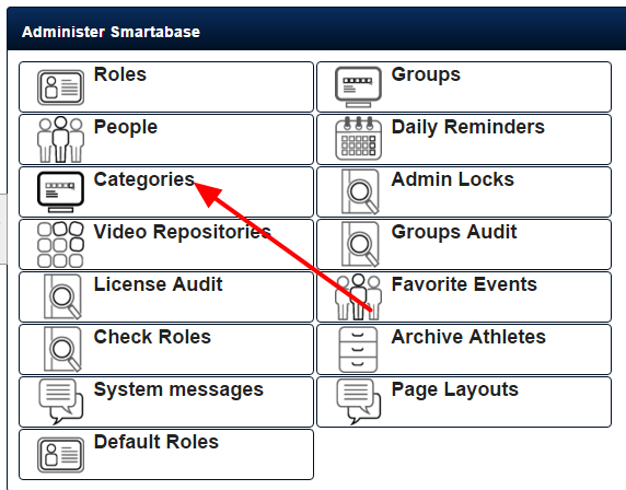 An administrator can now access the Categories module on the Administration Site