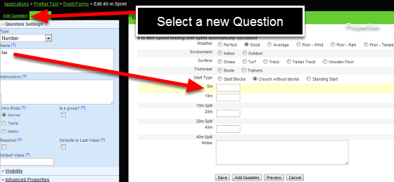 You can add in as many NEW fields as you require using the Add Question module on the left of the Event Builder page